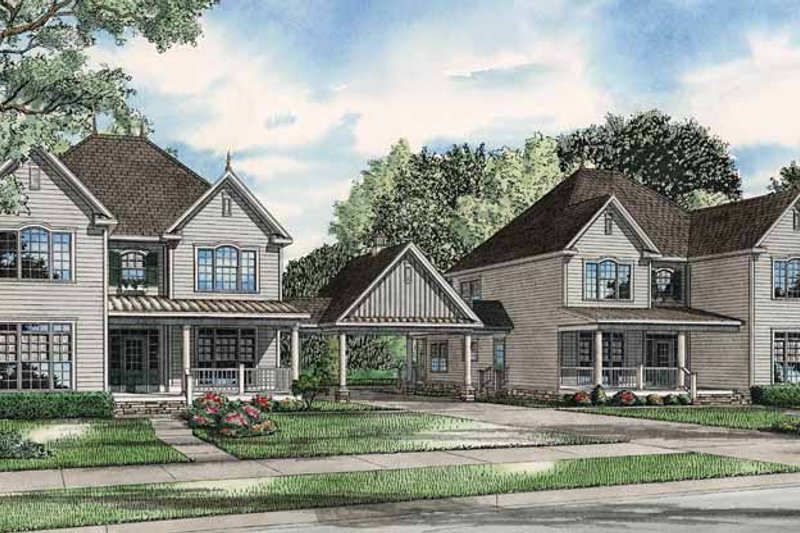 Country Exterior - Front Elevation Plan #17-2818 - Houseplans.com
