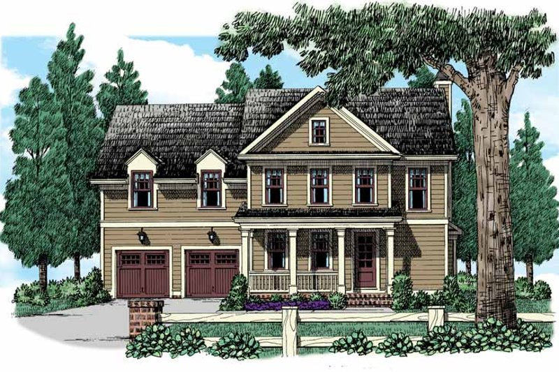 Country Exterior - Front Elevation Plan #927-946