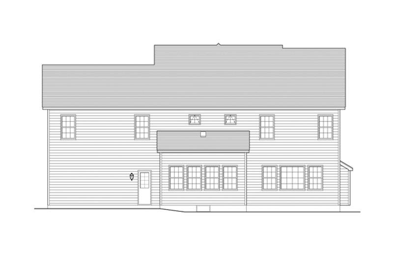 Colonial Exterior - Rear Elevation Plan #1010-83 - Houseplans.com