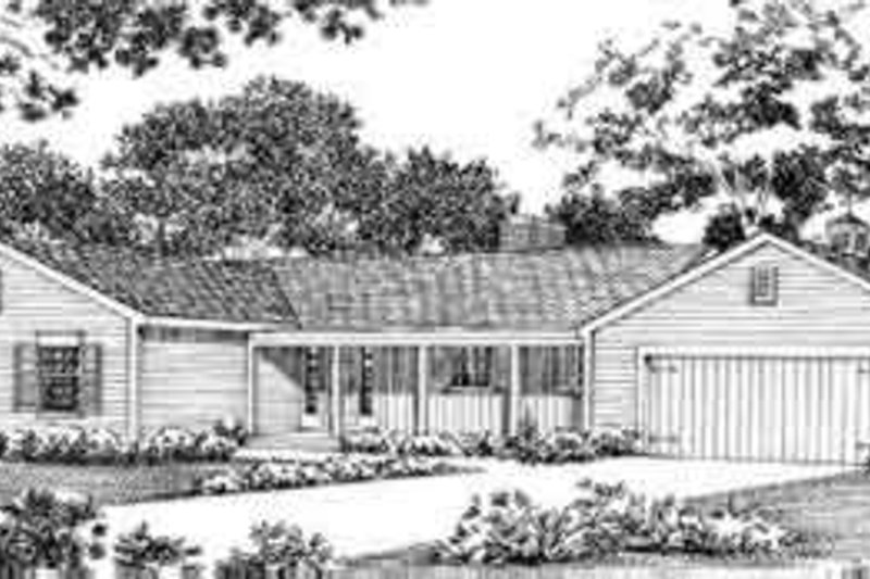 House Blueprint - Colonial Exterior - Front Elevation Plan #72-315