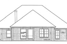 Traditional Exterior - Rear Elevation Plan #310-1262