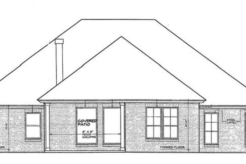 Traditional Exterior - Rear Elevation Plan #310-1262 - Houseplans.com