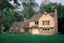Tudor Exterior - Front Elevation Plan #72-755