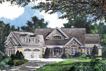Dream House Plan - Craftsman Exterior - Front Elevation Plan #929-742