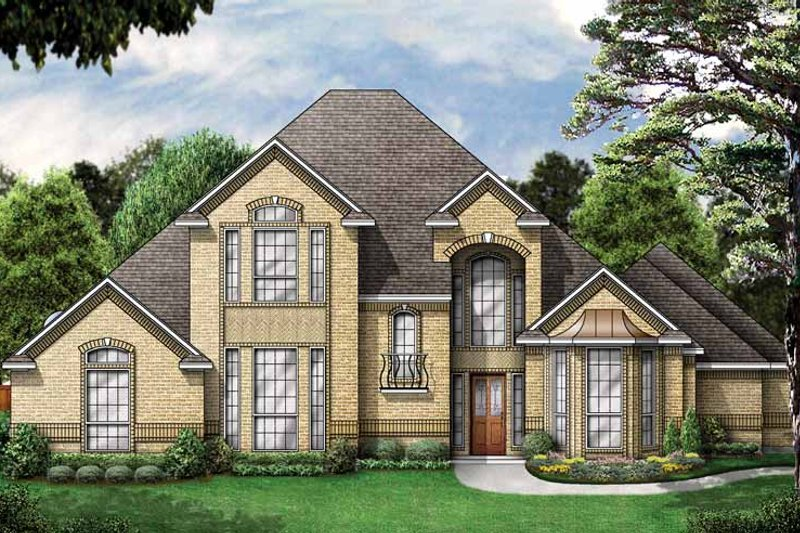 House Plan Design - Traditional Exterior - Front Elevation Plan #84-703