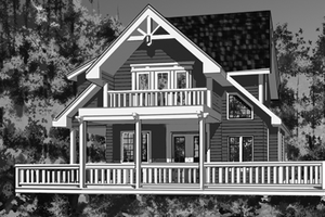Architectural House Design - Traditional Exterior - Front Elevation Plan #118-143
