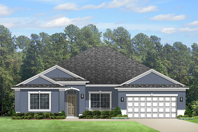 Colonial Exterior - Front Elevation Plan #1058-124