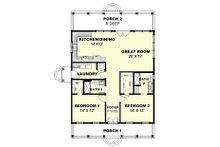 Cottage Floor Plan - Main Floor Plan Plan #44-165