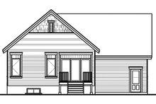 Craftsman Exterior - Rear Elevation Plan #23-2386