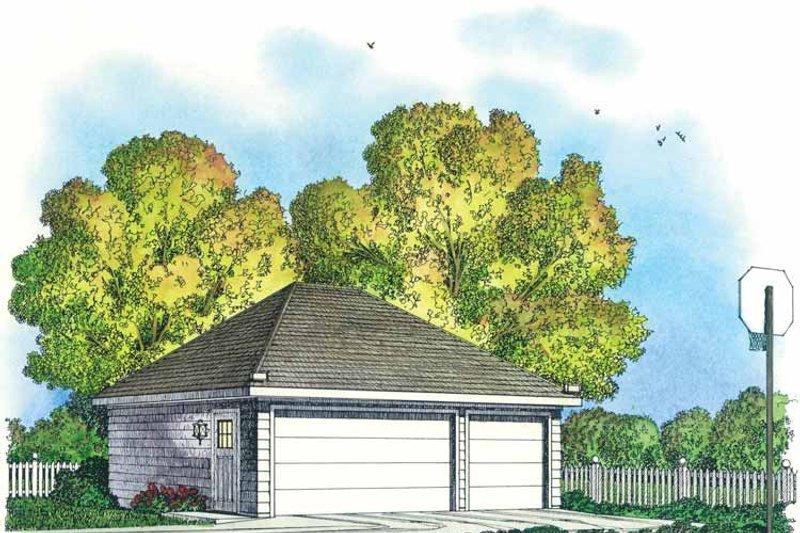 Colonial Exterior - Front Elevation Plan #1016-86 - Houseplans.com