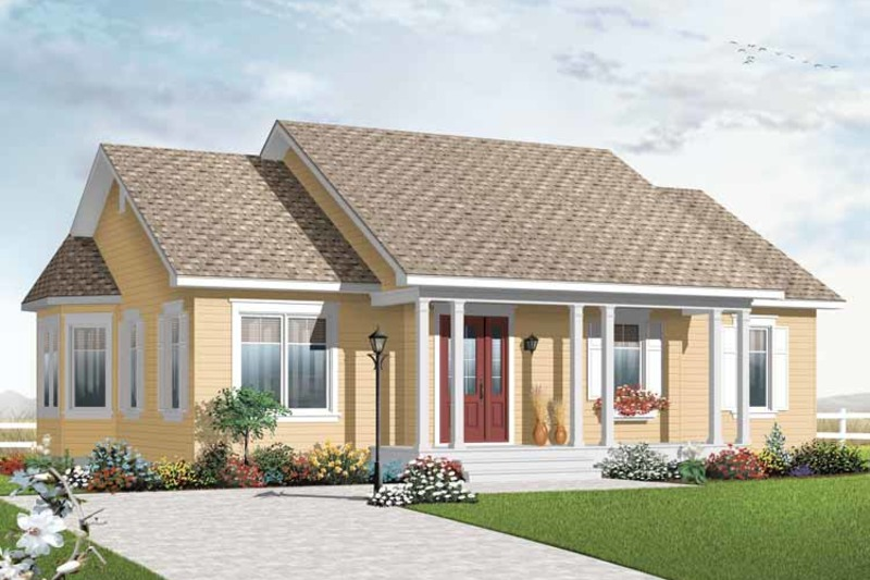 Country Exterior - Front Elevation Plan #23-2379 - Houseplans.com