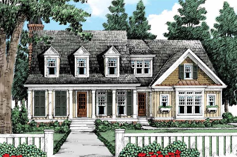 Country Exterior - Front Elevation Plan #927-424