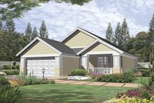 Home Plan - Bungalow Exterior - Front Elevation Plan #48-730