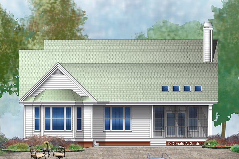 Ranch Exterior - Rear Elevation Plan #929-991 - Houseplans.com