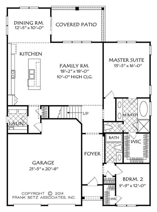 Traditional Style House Plan - 4 Beds 3 Baths 2458 Sq/Ft Plan #927-971 Floor Plan - Main Floor Plan