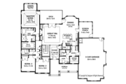 Ranch Style House Plan - 3 Beds 2.5 Baths 2333 Sq/Ft Plan #1010-195 Floor Plan - Main Floor Plan