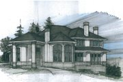 European Style House Plan - 5 Beds 3.5 Baths 5260 Sq/Ft Plan #509-47 Exterior - Front Elevation