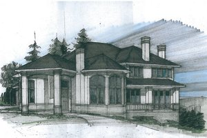 European Exterior - Front Elevation Plan #509-47