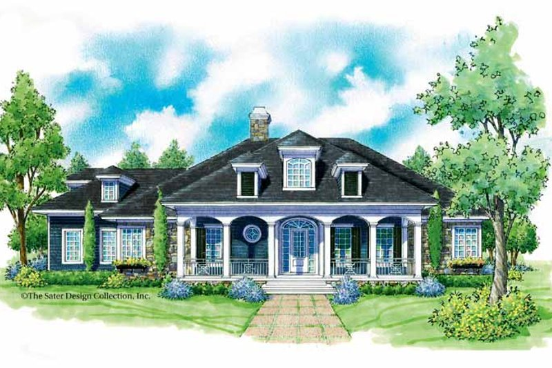 Classical Exterior - Front Elevation Plan #930-226