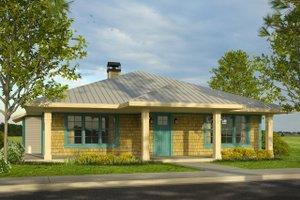 Cottage Exterior - Front Elevation Plan #124-999