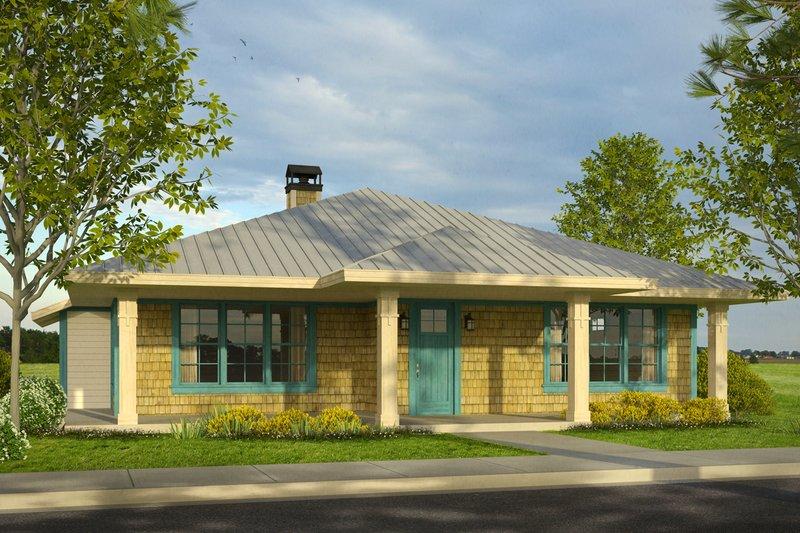 Dream House Plan - Cottage Exterior - Front Elevation Plan #124-999