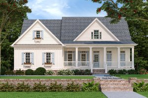 Country Exterior - Front Elevation Plan #927-9