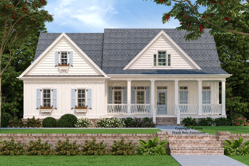 House Plan Design - Country Exterior - Front Elevation Plan #927-9