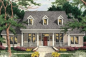 Dream House Plan - Traditional Exterior - Front Elevation Plan #406-108