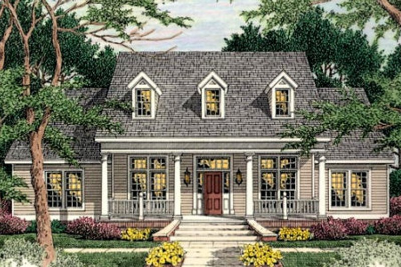 Architectural House Design - Traditional Exterior - Front Elevation Plan #406-108