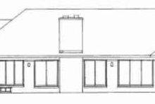 House Blueprint - Ranch Exterior - Rear Elevation Plan #72-318