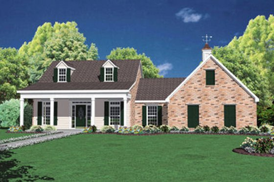 Southern Exterior - Front Elevation Plan #36-425