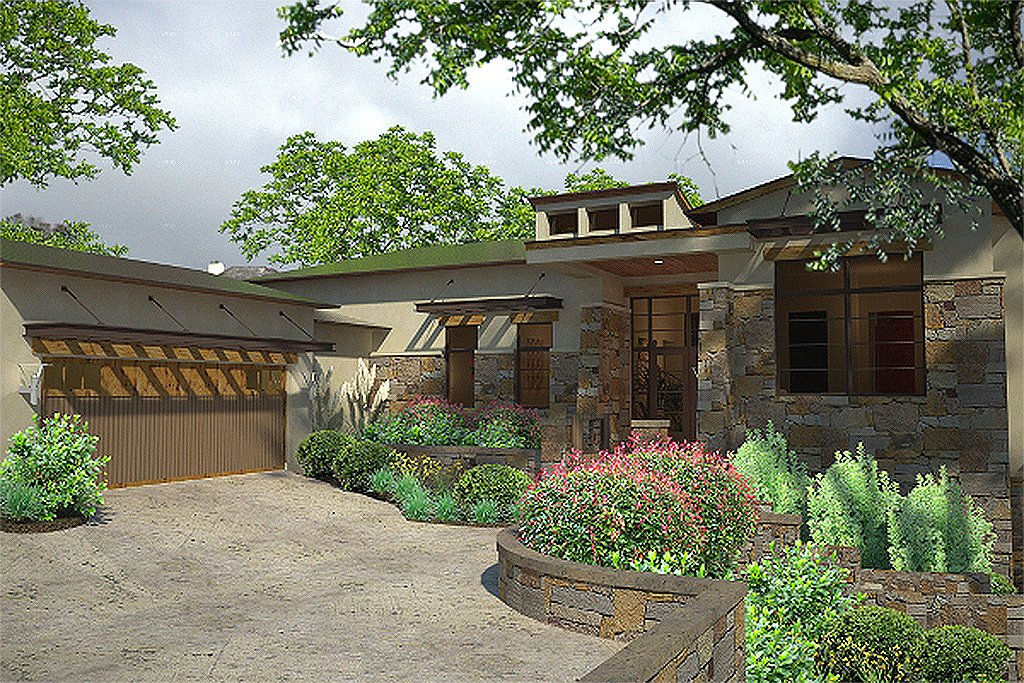 Contemporary Style House Plan 3 Beds 35 Baths 3636 Sqft
