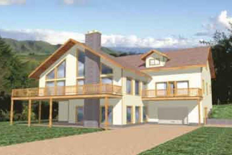 Modern Exterior - Front Elevation Plan #117-142