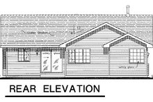 House Blueprint - Ranch Exterior - Rear Elevation Plan #18-194
