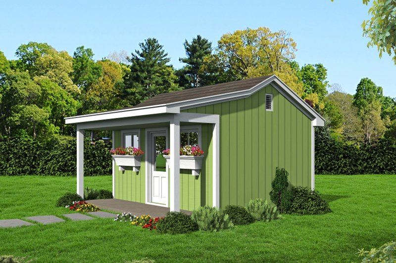 Country Exterior - Front Elevation Plan #932-303