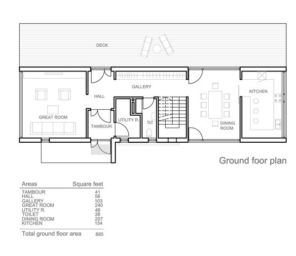 Modern Floor Plan - Main Floor Plan Plan #552-3