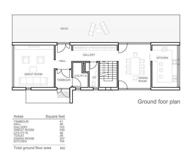 Modern Floor Plan - Main Floor Plan Plan #552-3