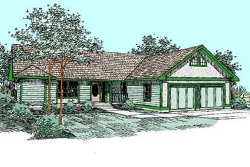 Traditional Exterior - Front Elevation Plan #60-471 - Houseplans.com