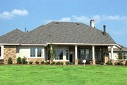 European Style House Plan - 4 Beds 3.5 Baths 3197 Sq/Ft Plan #472-17 Exterior - Rear Elevation