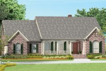Dream House Plan - Southern Exterior - Front Elevation Plan #406-9620