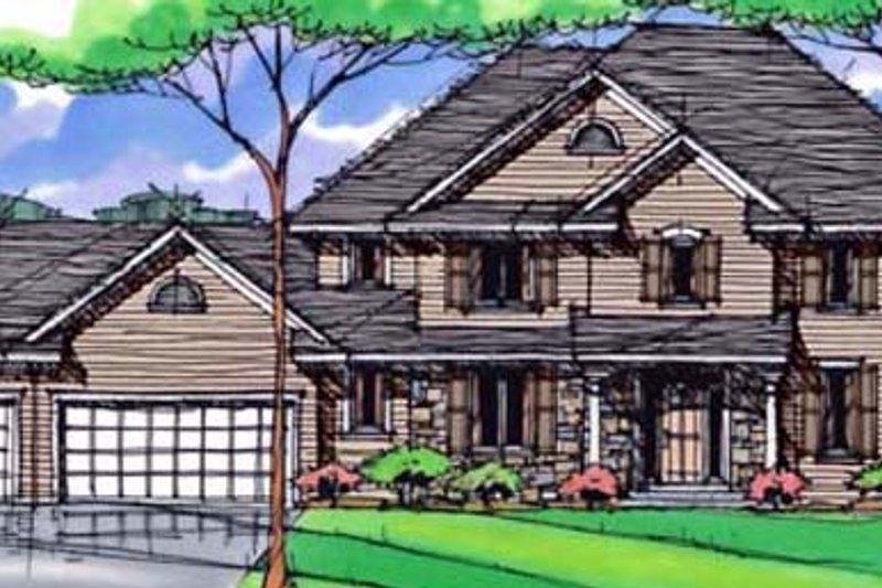 Craftsman Exterior - Front Elevation Plan #51-412
