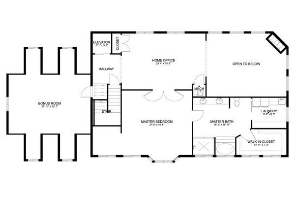 Craftsman Floor Plan - Upper Floor Plan #1060-53