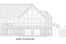 Home Plan - Cabin Exterior - Rear Elevation Plan #17-2469