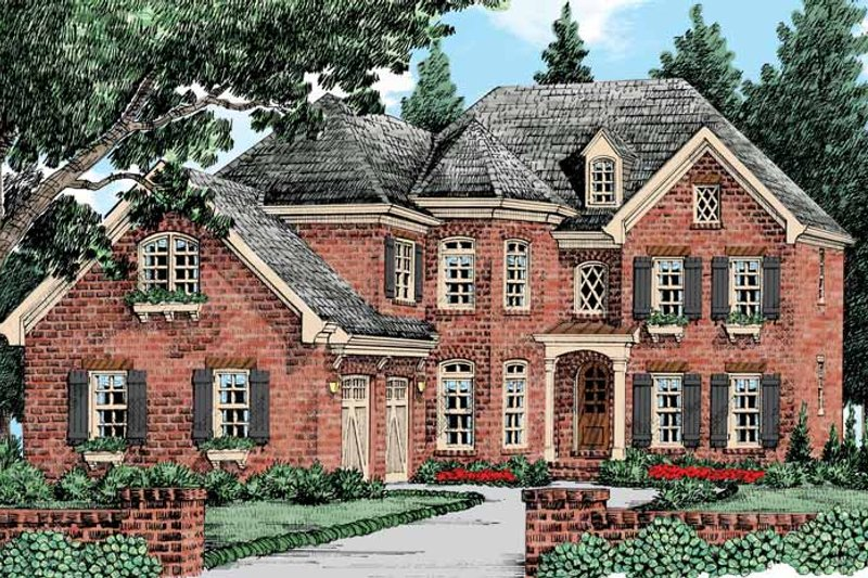 European Exterior - Front Elevation Plan #927-427