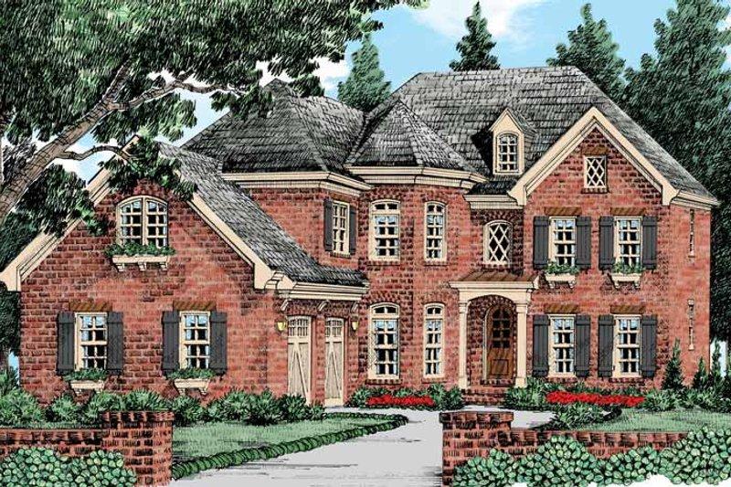 House Plan Design - European Exterior - Front Elevation Plan #927-427