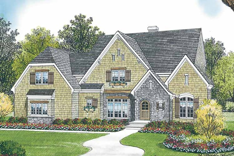 Country Exterior - Front Elevation Plan #453-448
