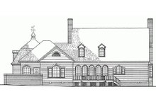 Southern Exterior - Rear Elevation Plan #137-224