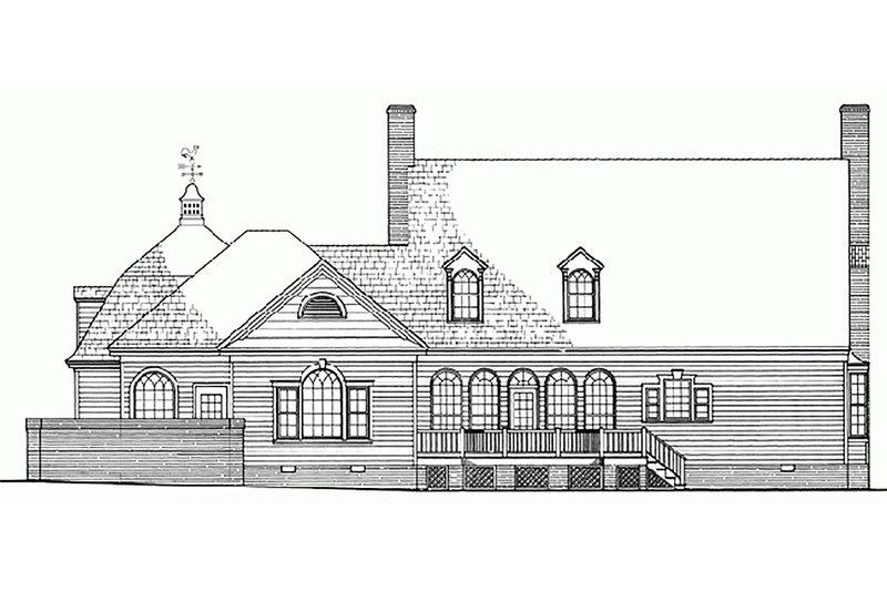 Southern Exterior - Rear Elevation Plan #137-224 - Houseplans.com