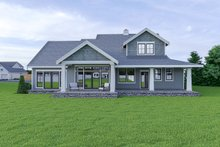 House Plan Design - Craftsman Exterior - Rear Elevation Plan #1070-58