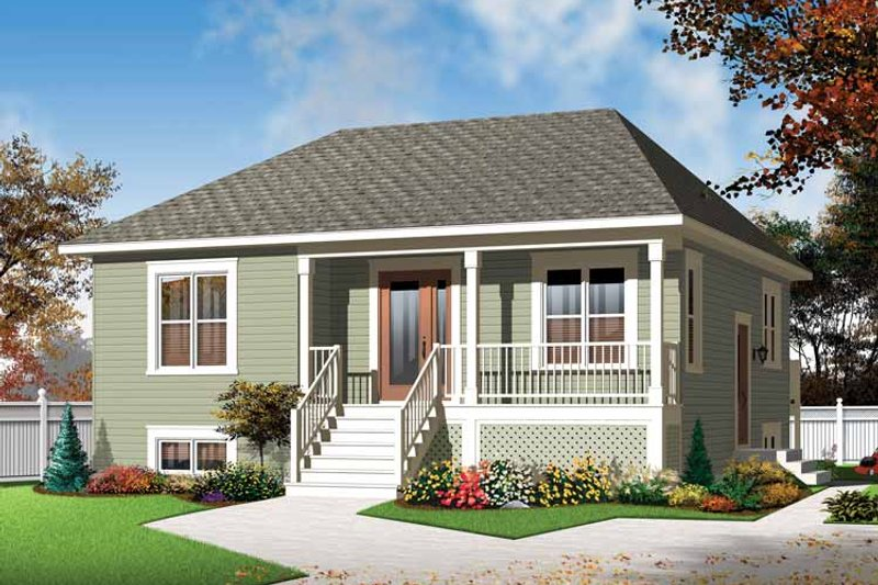 Country Exterior - Front Elevation Plan #23-2519